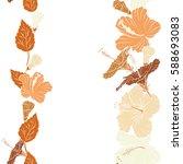 various hibiscus hawaiian... | Shutterstock .eps vector #588693083