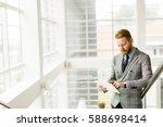 male managing director dressed... | Shutterstock . vector #588698414