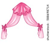 pink tulle curtains with bows... | Shutterstock .eps vector #588698714
