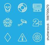 risk icons set. set of 9 risk... | Shutterstock .eps vector #588700670