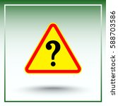 warning attention with question ... | Shutterstock .eps vector #588703586