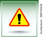 warning attention with... | Shutterstock .eps vector #588703628