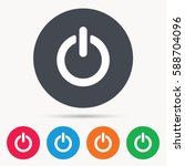 on  off power icon. energy... | Shutterstock . vector #588704096