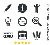 agricultural icons. gluten free ... | Shutterstock . vector #588704570