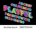 vector of modern stylized font...   Shutterstock .eps vector #588705434