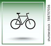 bicycle sign icon  vector... | Shutterstock .eps vector #588707036