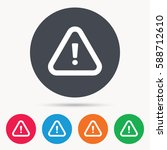 warning icon. attention... | Shutterstock . vector #588712610