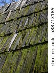 roof of the old wooden houses... | Shutterstock . vector #588713189