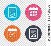report document  calendar icons.... | Shutterstock . vector #588715103