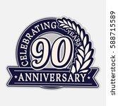 90 years anniversary logo...   Shutterstock .eps vector #588715589