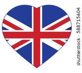 united kingdom of vector flag ... | Shutterstock .eps vector #588715604