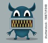 angry horror monster for...   Shutterstock .eps vector #588719348