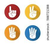 hand gestures flat design long... | Shutterstock .eps vector #588721388