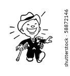 in the money   retro clip art   Shutterstock .eps vector #58872146