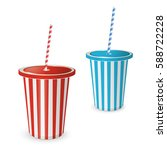 collections plastic fastfood... | Shutterstock .eps vector #588722228