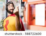 crazy super hero money sign | Shutterstock . vector #588722600