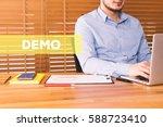 demo concept | Shutterstock . vector #588723410