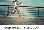 healthy lifestyle young fitness ... | Shutterstock . vector #588723644