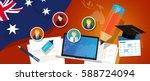 australia education school... | Shutterstock .eps vector #588724094