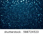 abstract data background with... | Shutterstock . vector #588724523