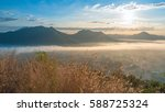 landscape fog lot of fog phu... | Shutterstock . vector #588725324