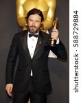 casey affleck at the 89th... | Shutterstock . vector #588729884