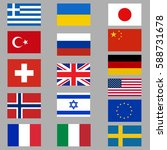 national flags. flags of...   Shutterstock .eps vector #588731678