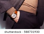 closeup fashion image of luxury ... | Shutterstock . vector #588731930