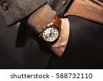 closeup fashion image of luxury ... | Shutterstock . vector #588732110
