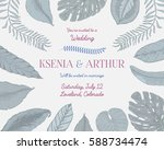 wedding invitation card ... | Shutterstock .eps vector #588734474