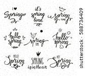 springtime inspirational... | Shutterstock .eps vector #588736409