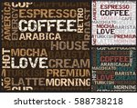 coffee pattern with coffee... | Shutterstock .eps vector #588738218
