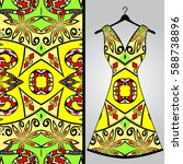 fabric pattern design for a... | Shutterstock .eps vector #588738896