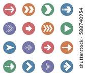 arrow sign vector icons set....