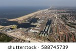 aerial view of the dutch city... | Shutterstock . vector #588745739