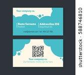 business card design. template... | Shutterstock .eps vector #588746810