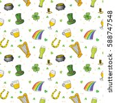 st patrick's day hand drawn... | Shutterstock .eps vector #588747548