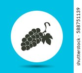 grapes icon. flat vector... | Shutterstock .eps vector #588751139