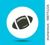 rugby ball icon. flat vector... | Shutterstock .eps vector #588751226