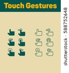 touch gestures icons set | Shutterstock .eps vector #588752648