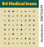 64 medical icons set | Shutterstock .eps vector #588752699