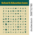 school and education icons set | Shutterstock .eps vector #588752780