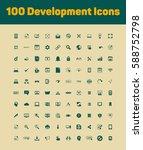 development icons set | Shutterstock .eps vector #588752798