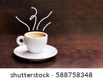 white cup of espresso coffee on ...   Shutterstock . vector #588758348