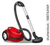 red vacuum cleaner isolated on... | Shutterstock .eps vector #588763469