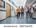 group of teenage boys are... | Shutterstock . vector #588766490