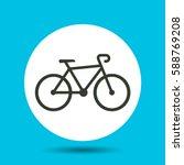 bike icon. flat vector...   Shutterstock .eps vector #588769208