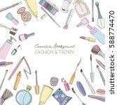 fashion cosmetics square...   Shutterstock .eps vector #588774470