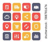 web icons set  e commerce ... | Shutterstock .eps vector #588781676