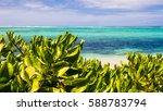 white sand beach in mauritius... | Shutterstock . vector #588783794